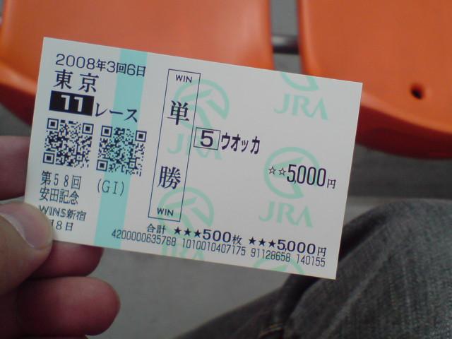 今日の馬券
